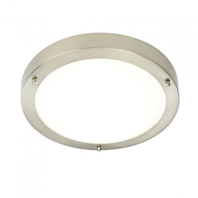 Endon Portico LED 300mm Flush Bathroom Light IP44 Rated 9W 54675