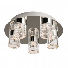 Endon Imperial 5 Light Flush Bathroom Light IP44 Rated 4W 61358