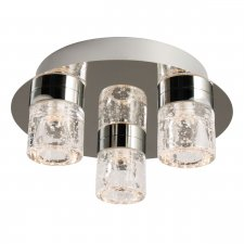 Endon Imperial 3 Light Flush Bathroom Light IP44 Rated 4W 61359