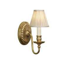 Interiors 1900 Fitzroy Single Wall Light & Beige Shade 40W 63821