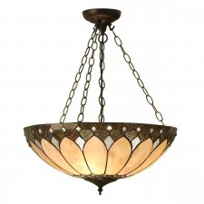 Interiors 1900 Brooklyn Large Inverted 3 Light Pendant 60W 63976