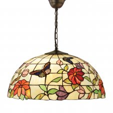 Interiors 1900 Butterfly Large 3 Light Pendant 60W 63995