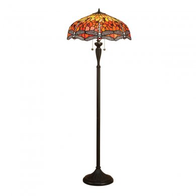 Interiors 1900 Tiffany Dragonfly Flame Floor Lamp 60W 64070