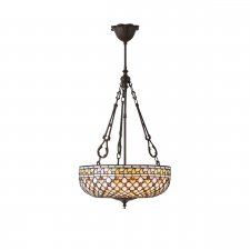 Interiors 1900 Mille Feux Large Inverted 3 Light Pendant 60W 64277