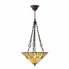 Interiors 1900 Jamelia Medium Inverted 3 Light Pendant 60W 70741