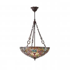 Interiors 1900 Anderson Large Inverted 3 Light Pendant 60W 70744