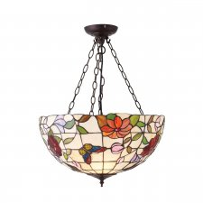 Interiors 1900 Butterfly Large Inverted 3 Light Pendant 60W 70746
