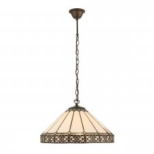 Interiors 1900 Boleyn Medium 1 Light Pendant 60W 74327