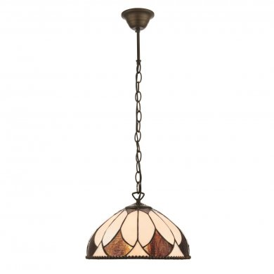 Interiors 1900 Aragon Small 1 Light Pendant 60W 74337