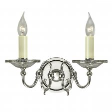Interiors 1900 Tilburg Nickel Twin Wall Light 40W CA20W2N