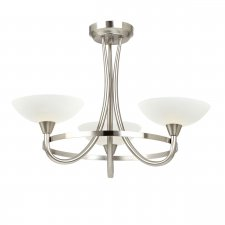 Endon Cagney 3 Light Semi Flush Light 33W CAGNEY-3SC