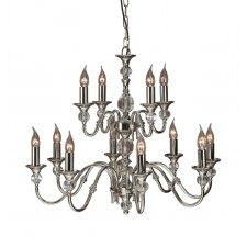 Interiors 1900 Polina Nickel 12 Light Pendant 40W LX124P12N